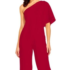 Adrianna Papell Jumpsuit (NEW, RED, 8)